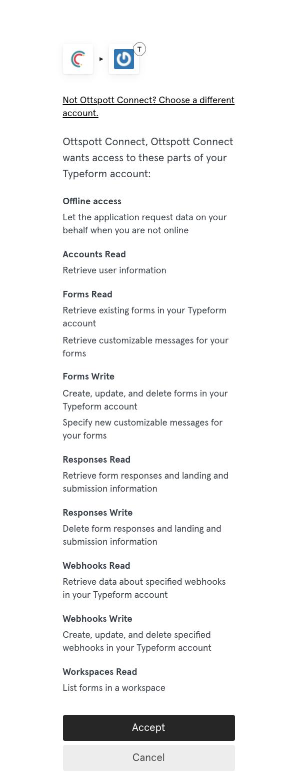 Autorisation Typeform