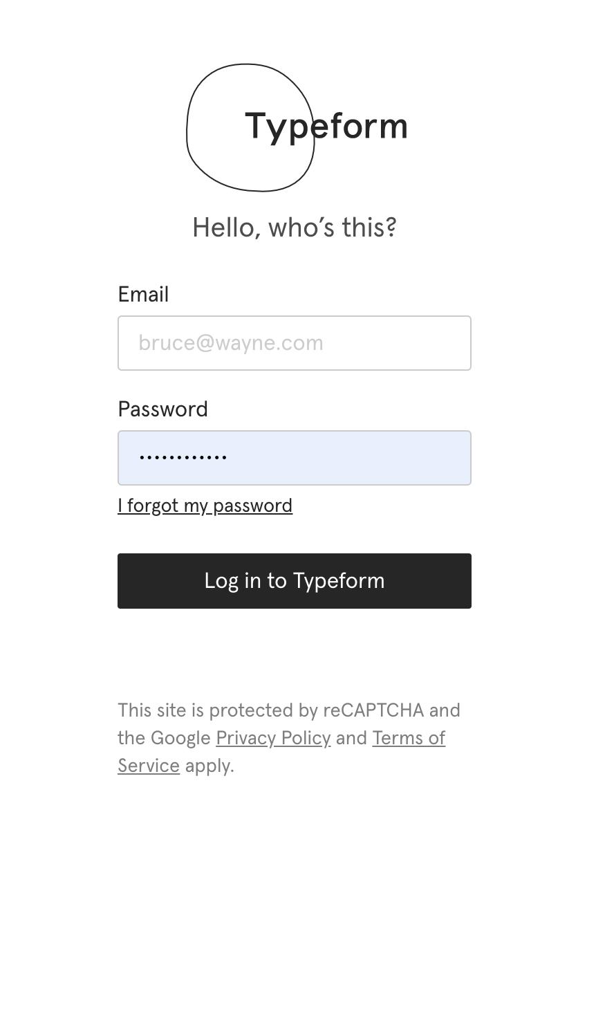 Authentification Typeform