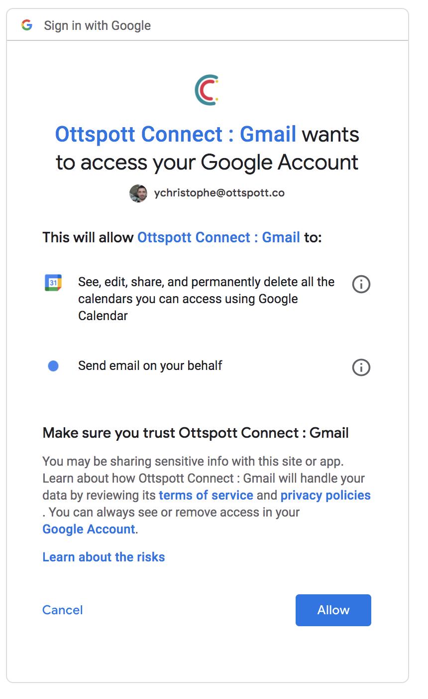 Autorisation Gmail