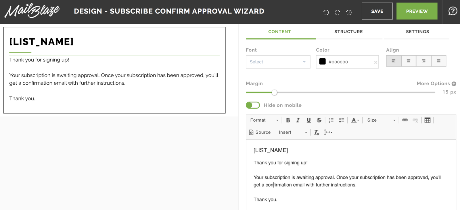 Subscription Approval Builder