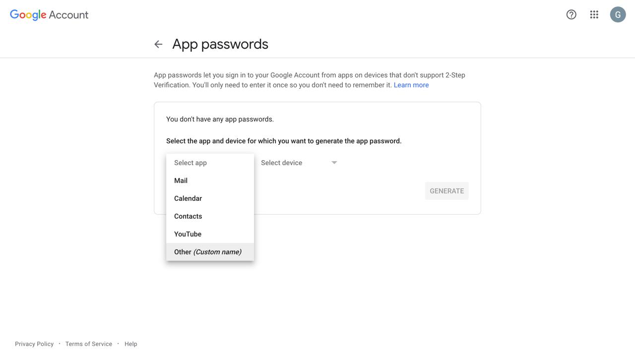 google-app-password-label