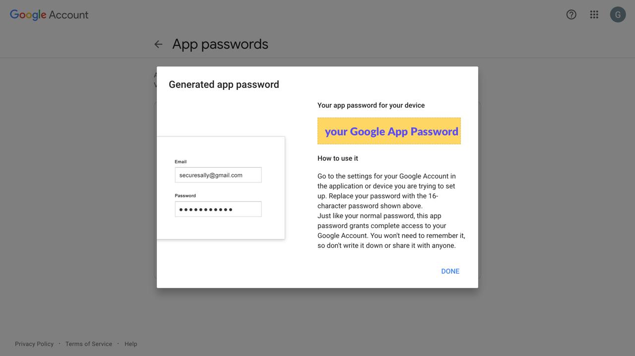google-app-password