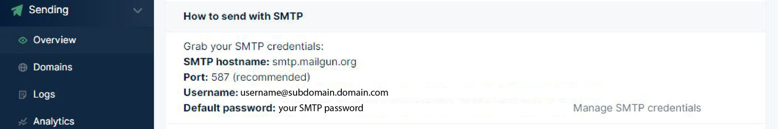 mailgun-smtp-credentials