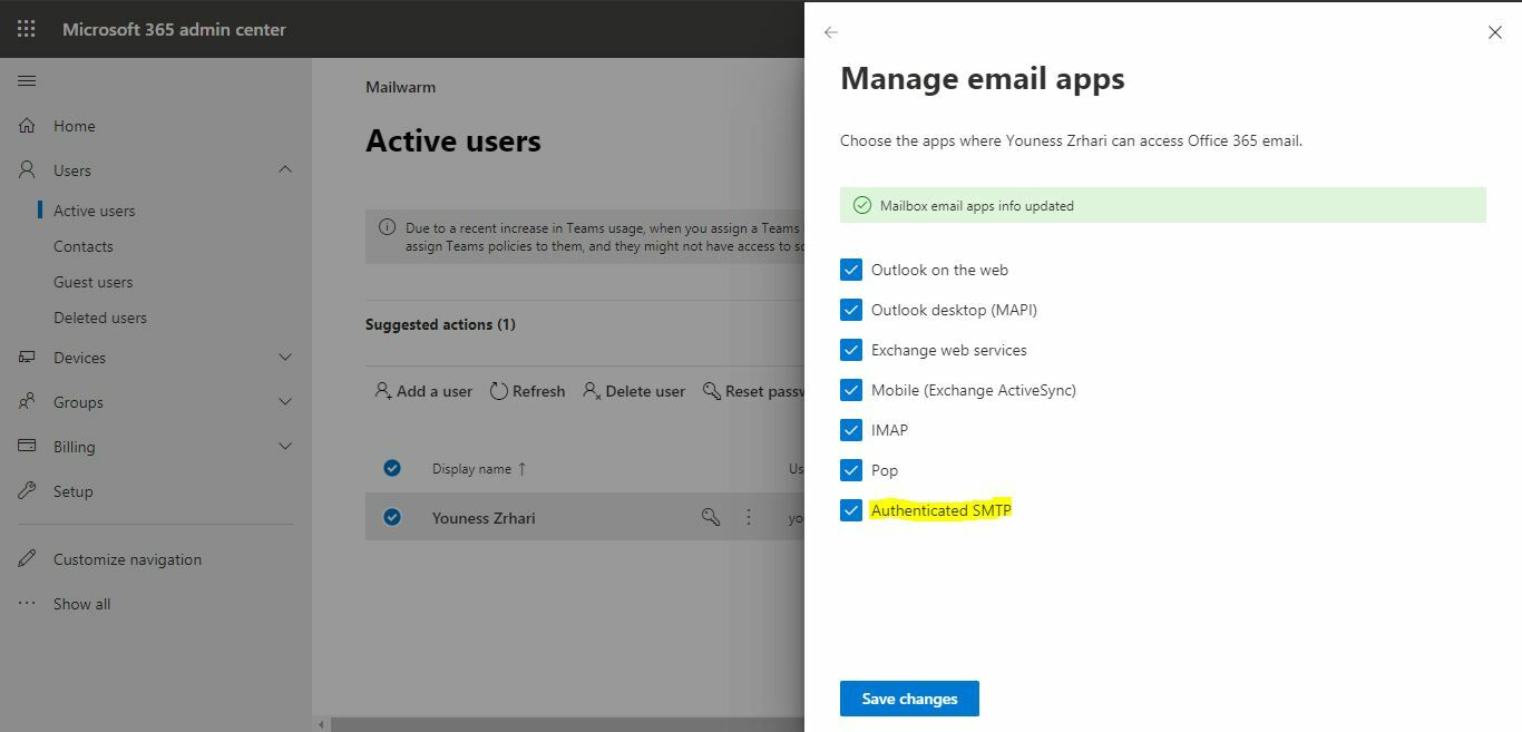 office365-smtp-activation