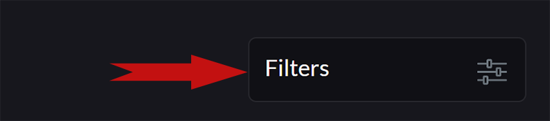 """1. Click """"Filters"""" to get started."""