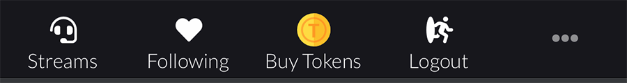 """Your """"Buy Tokens"""" on mobile is at the bottom of your screen!"""