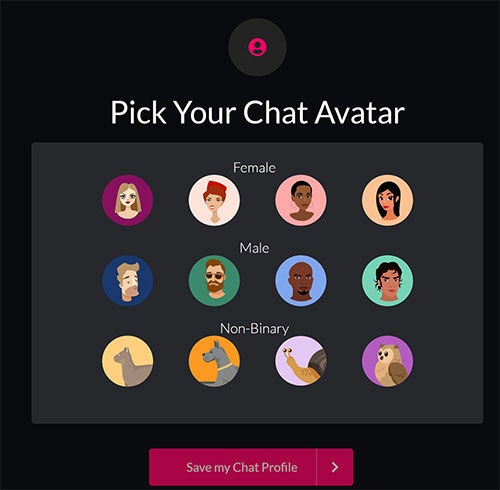 Pick your avatar! You can upload one of your own later.