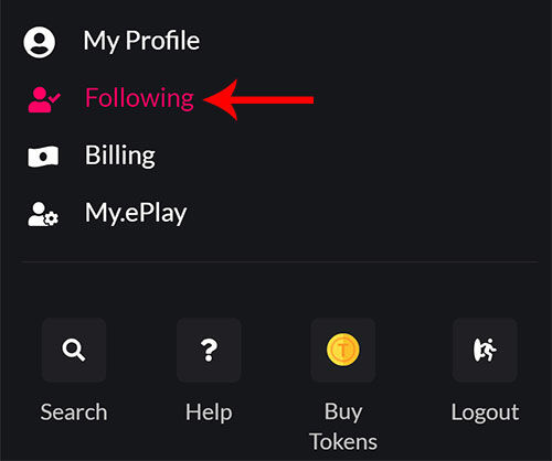 Drop down your account menu!