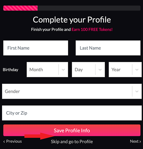 Profile! Fill this in to help complete it.