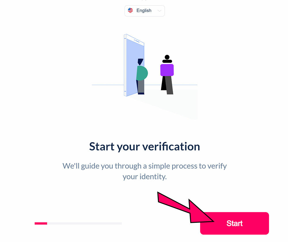 """ePlay verification: the starter screen. Click """"Start"""" to begin the process!"""