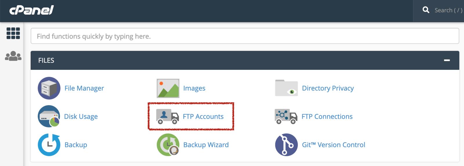 FTP-konti