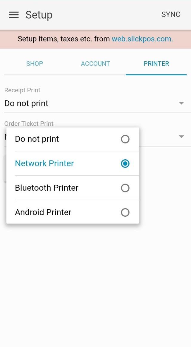 Print Kot In Kitchen Directly Tablet Mobile App Slickpos User Guide