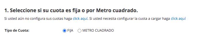 TIPO DE CUOTA