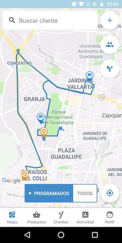 Ejemplo de ruta