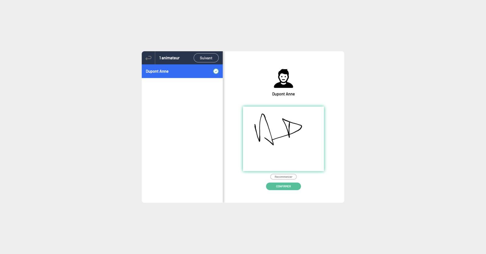 validation de signature