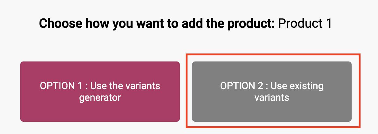 Choisissez l'option 2