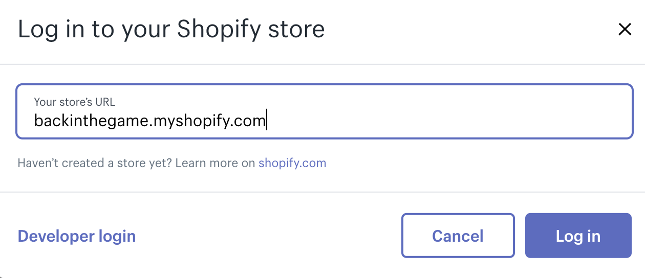 Type the link of your shop