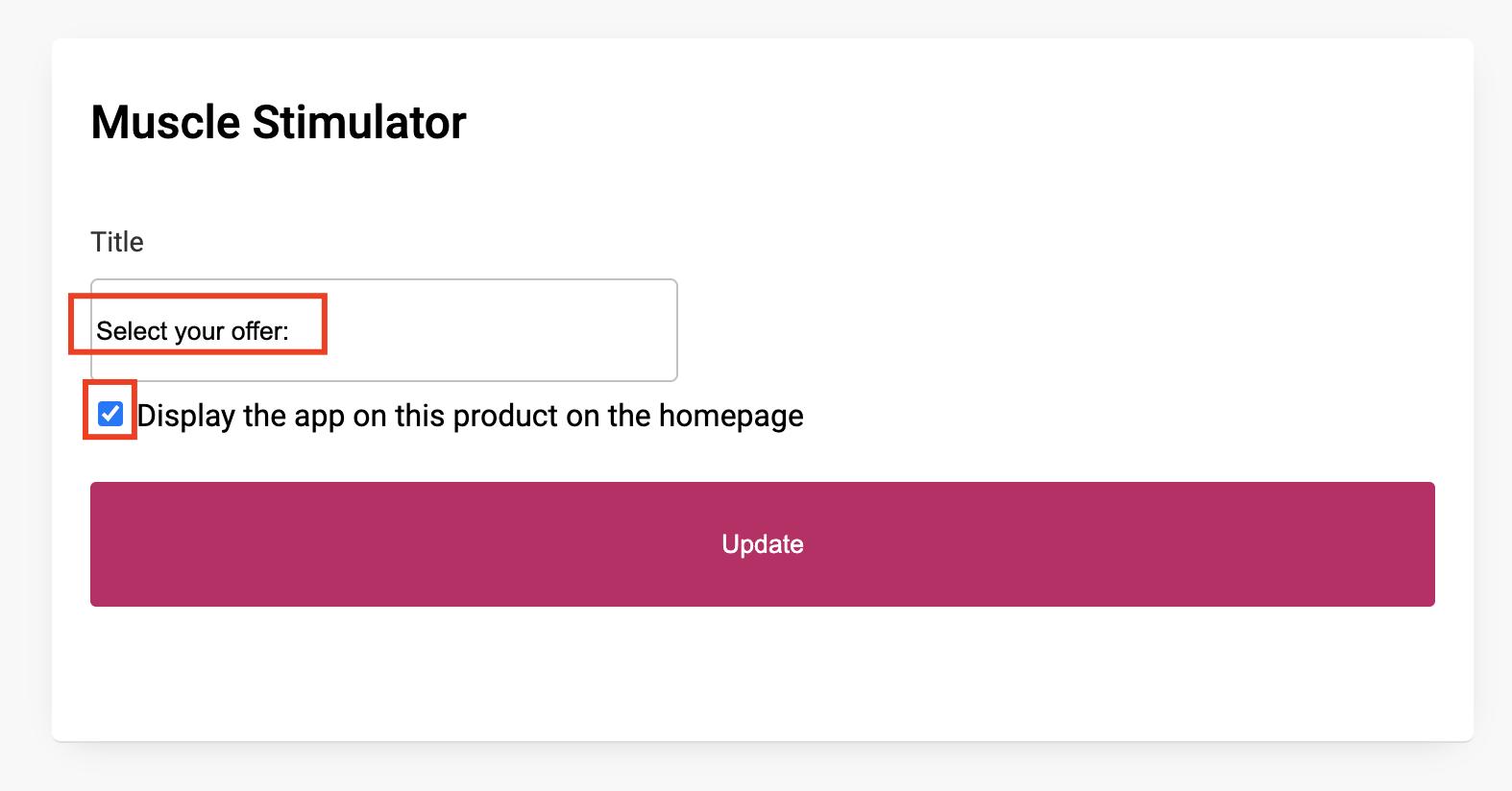 Modifier le produit