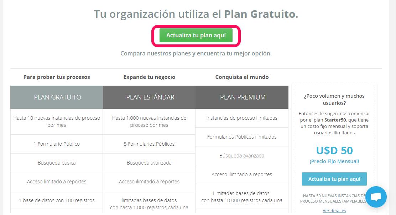 Suscripción al plan Estándar o Premium