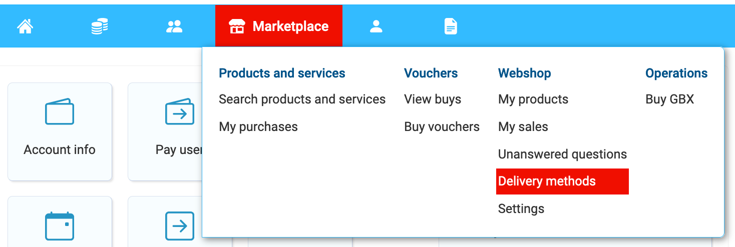 Adding delivery method to your webshop