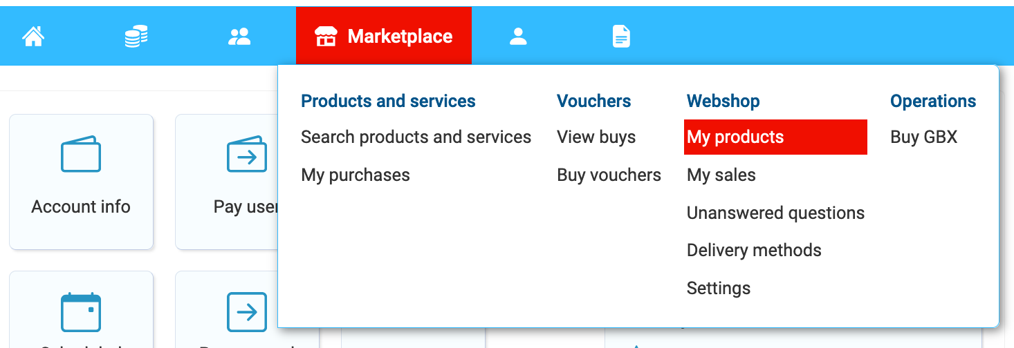 Adding a product to your webshop