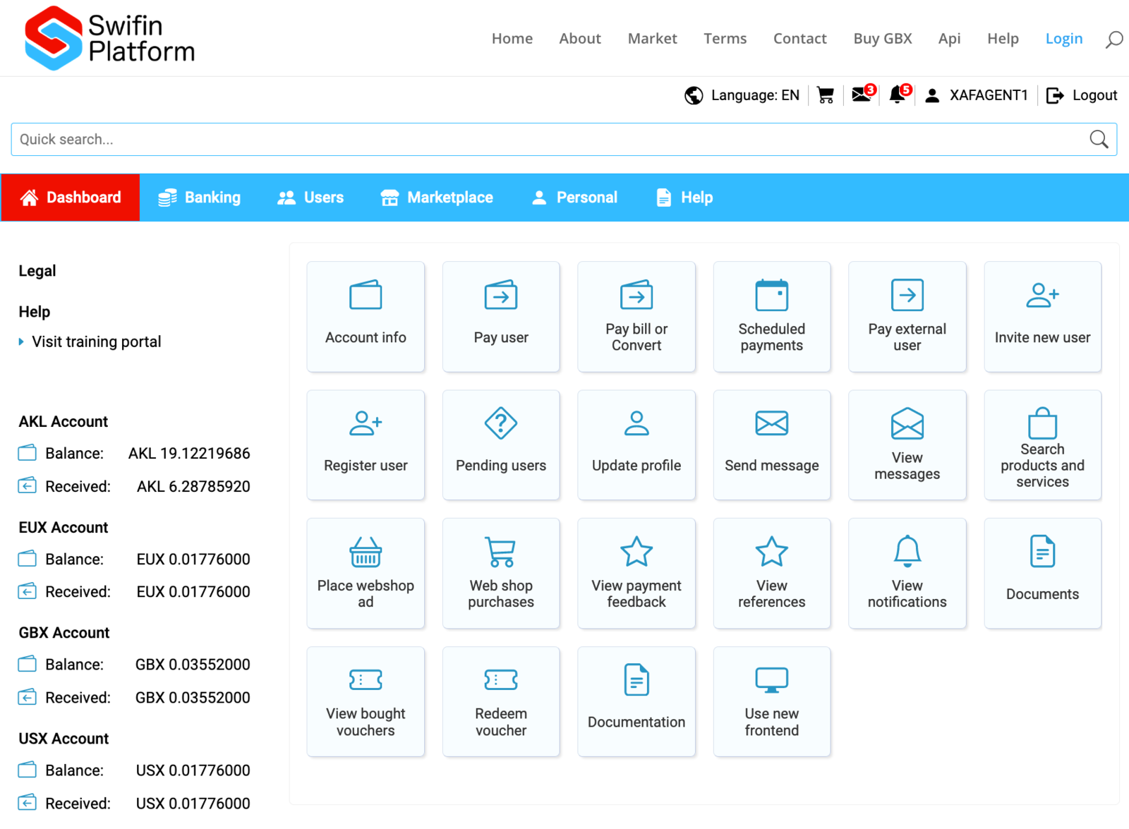 Classic online frontend for Swifin Platform
