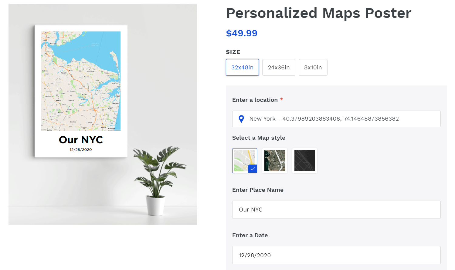 Personalized Maps example