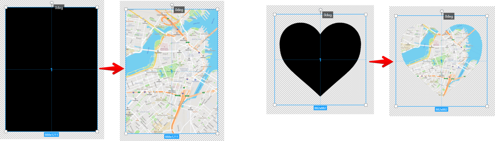 Example of layer for maps