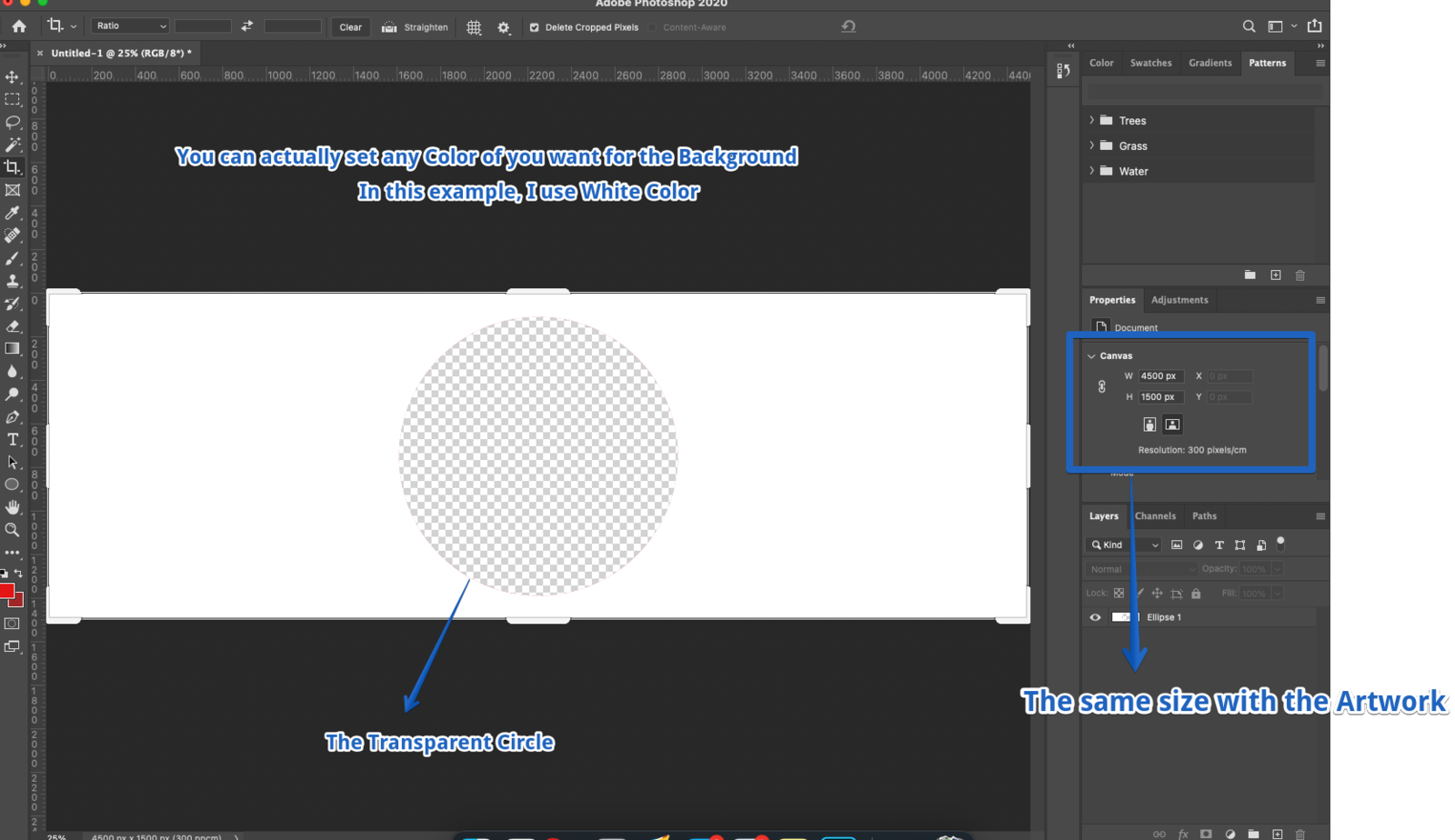 Creating a Background Layer via Photoshop