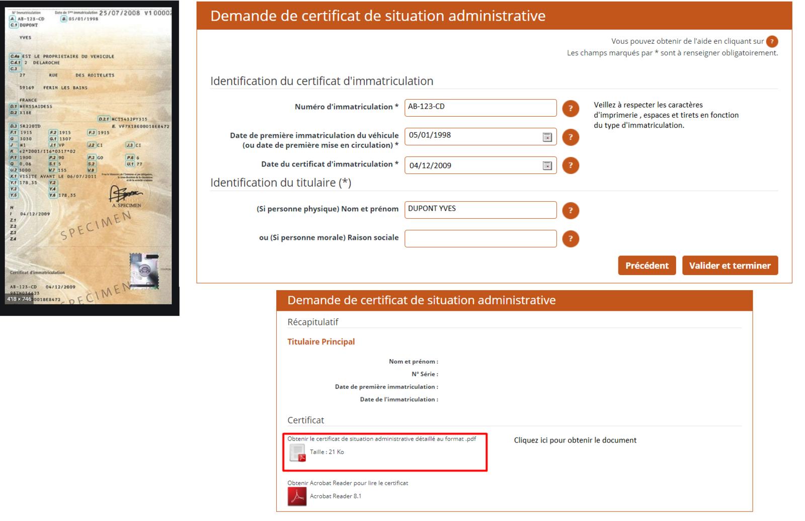 Comment remplir la demande de certificat de non gage