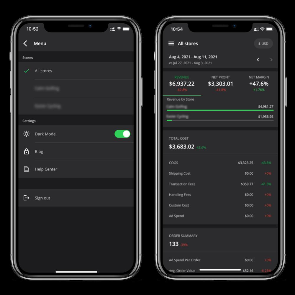 Inside the TrueProfit mobile app