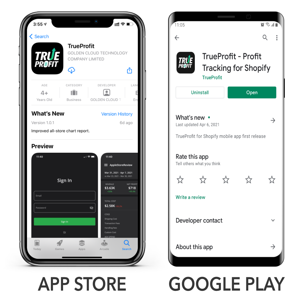 TrueProfit is now available on both app stores