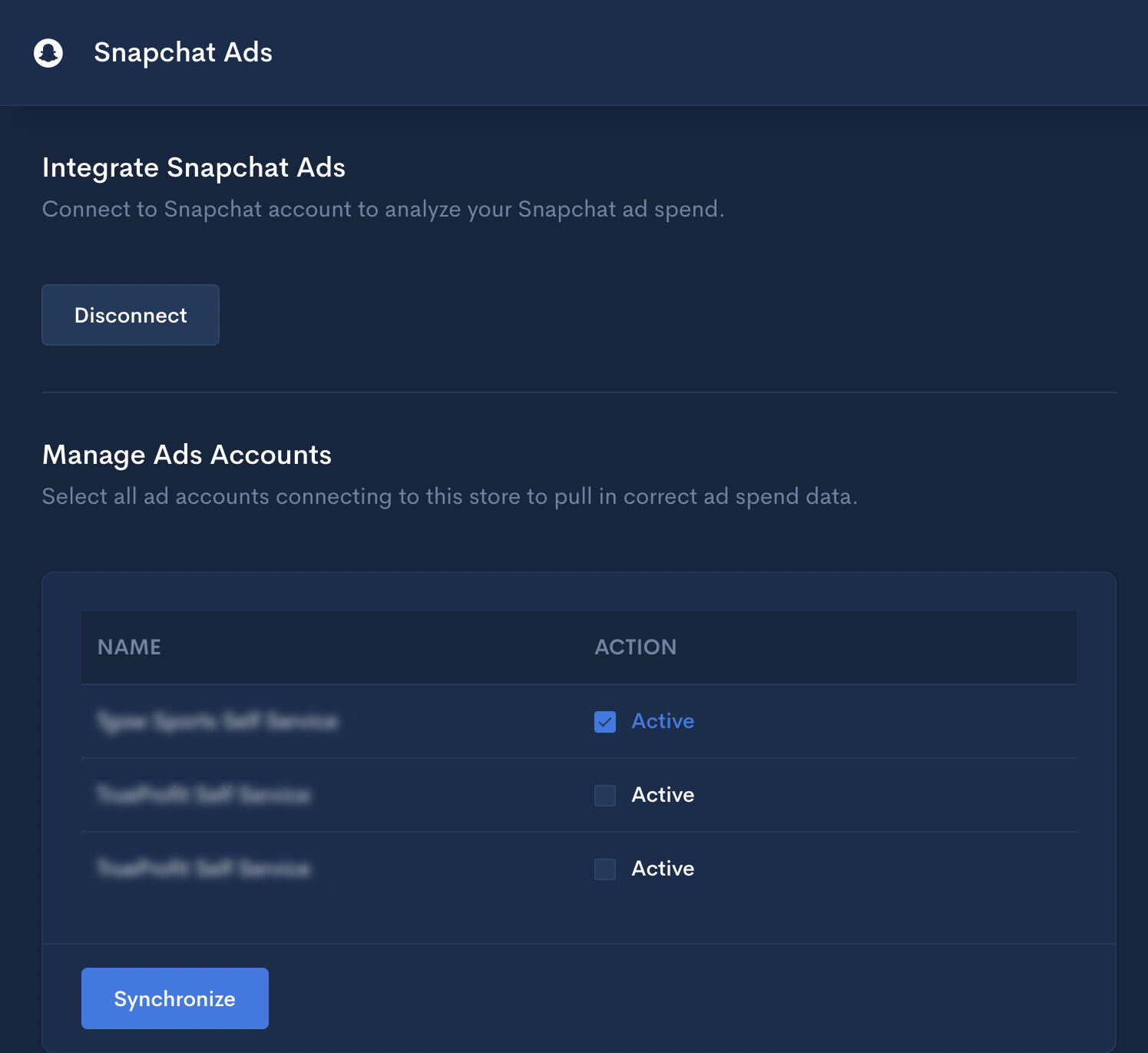 Manage Snapchat Ads Accounts