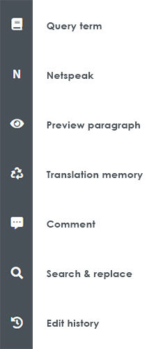 Main features in translation page