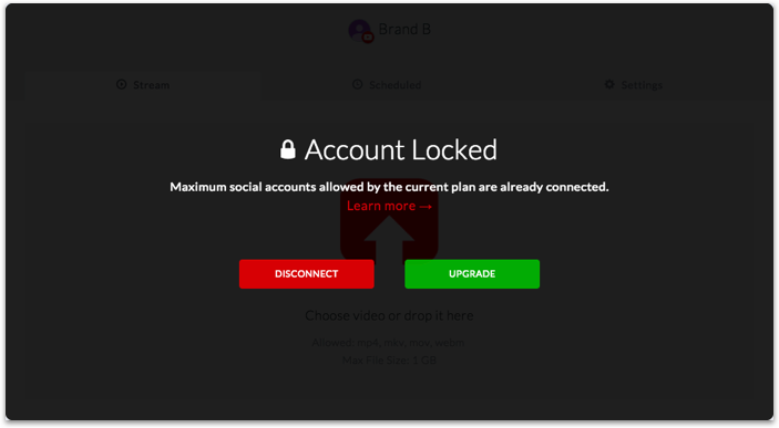 Account locked after the limit reached