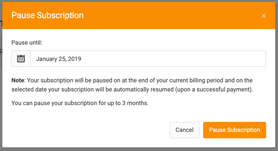 pausing subscription