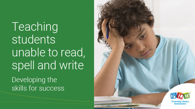 Teaching students unable to read, spell and write