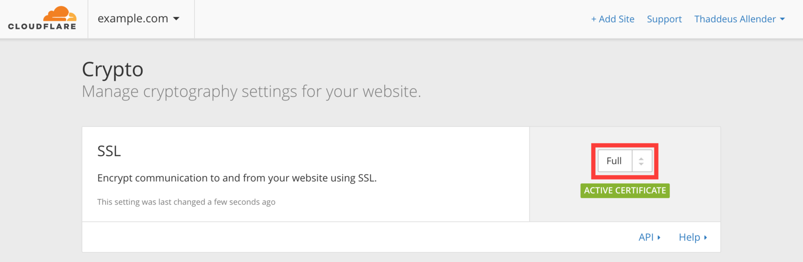 Cloudflare SSL
