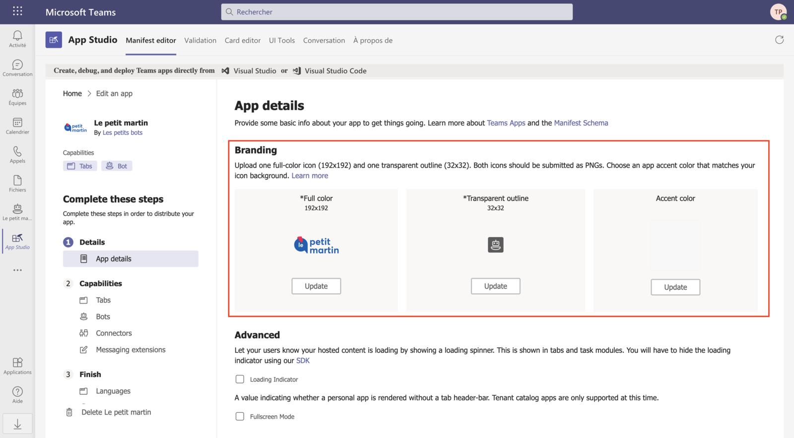 Personnalisation en marque blanche : modification de l'avatar du chatbot