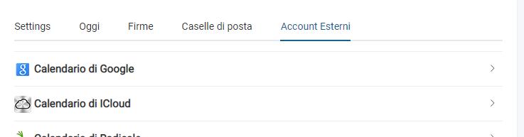 account esterni
