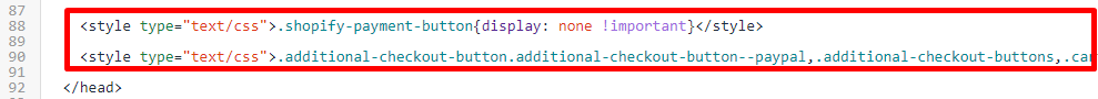 Delete these lines of code