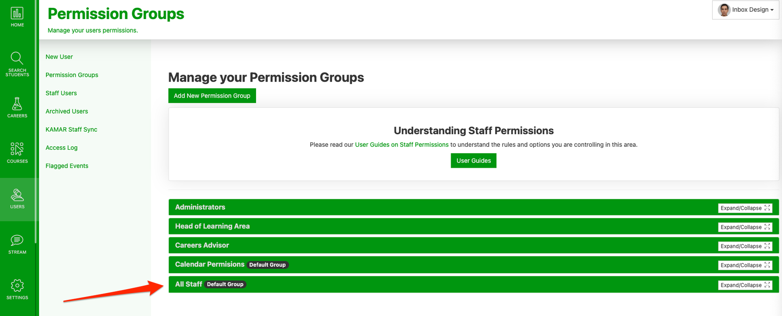 Creating Permission Groups
