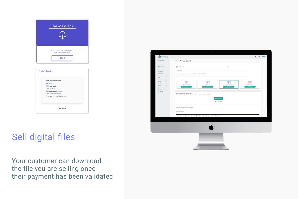 Sell digital files