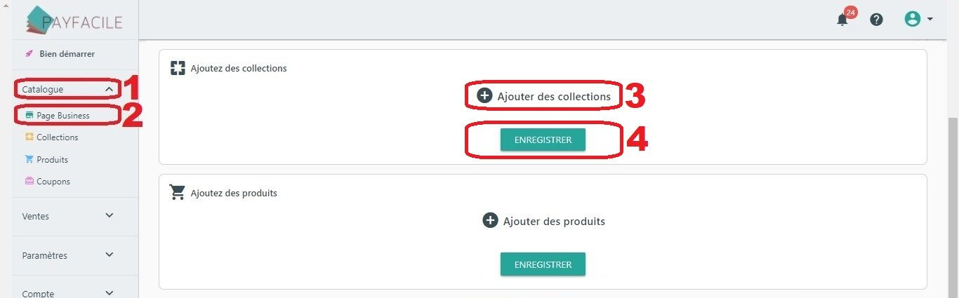 Ajouter une page Collection