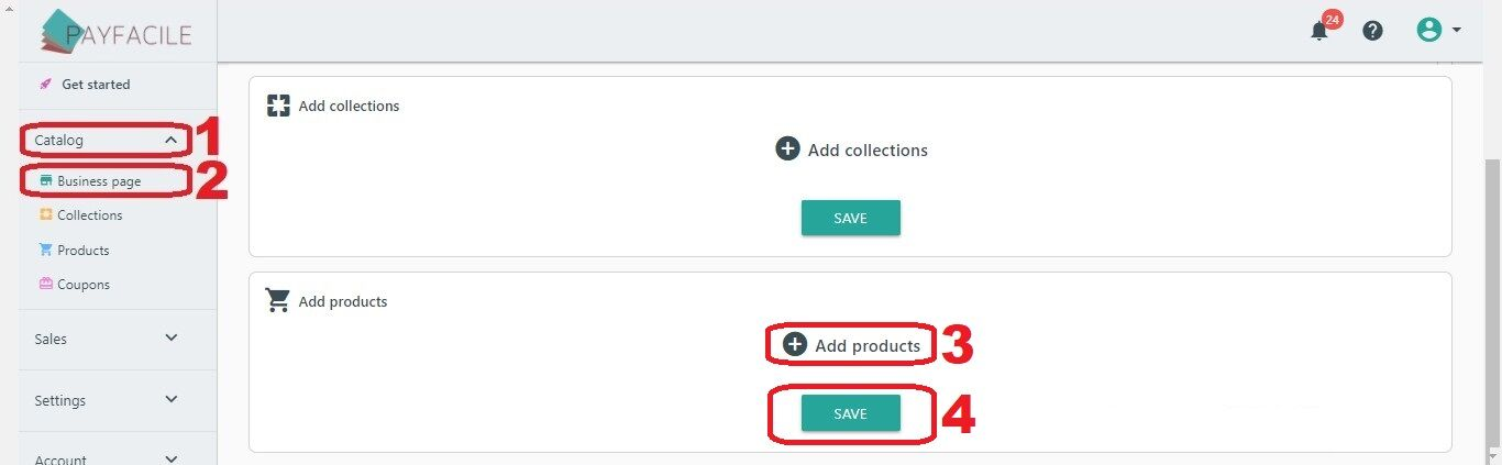 Add a Product page