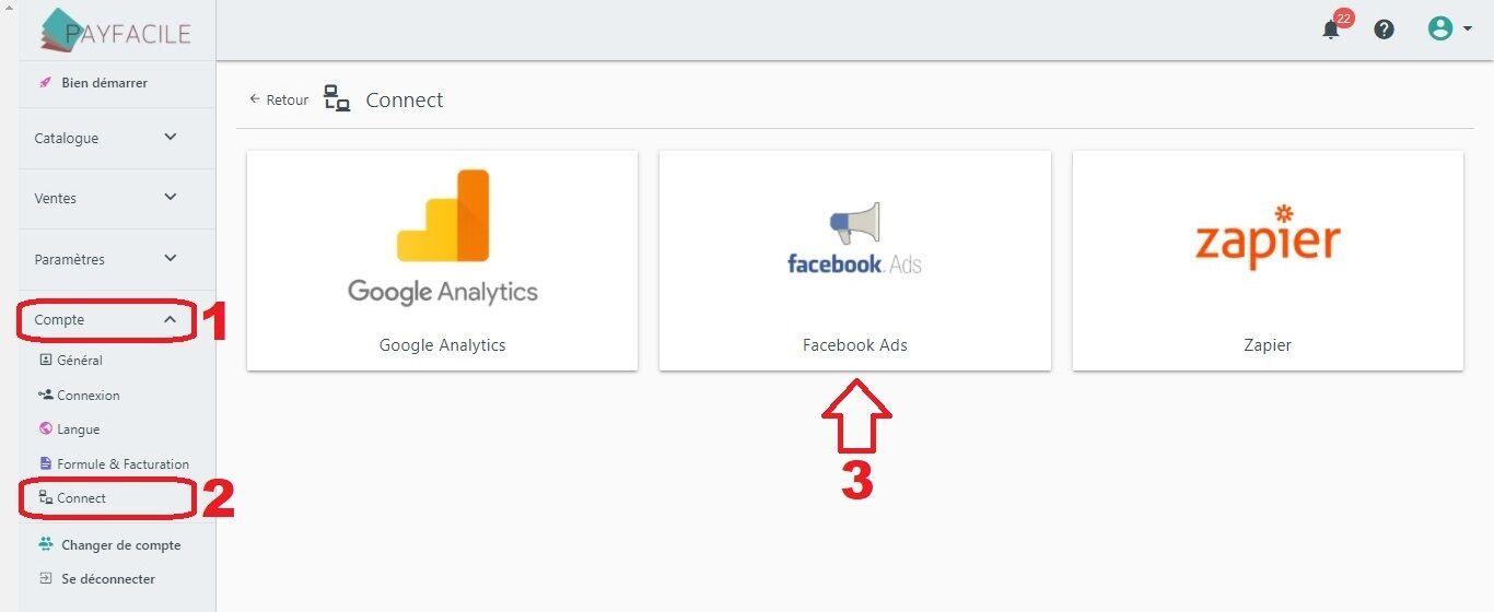 Connecter Facebook Ads