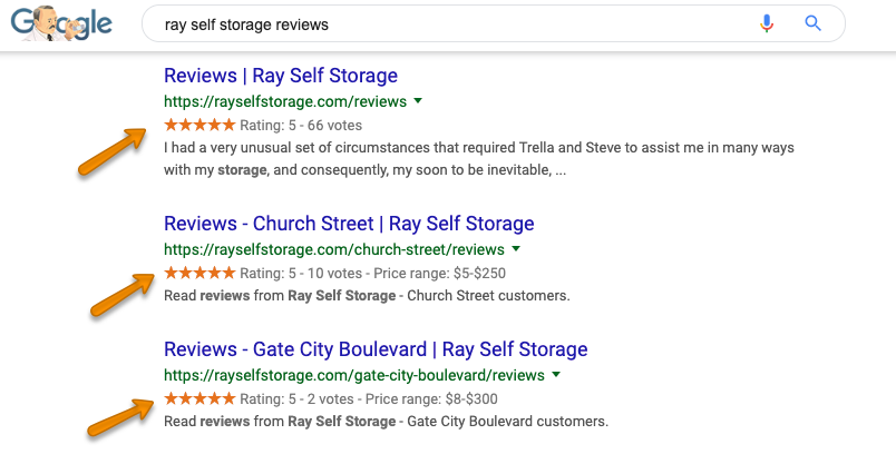 Ray Self Storage Search Results with Reviews