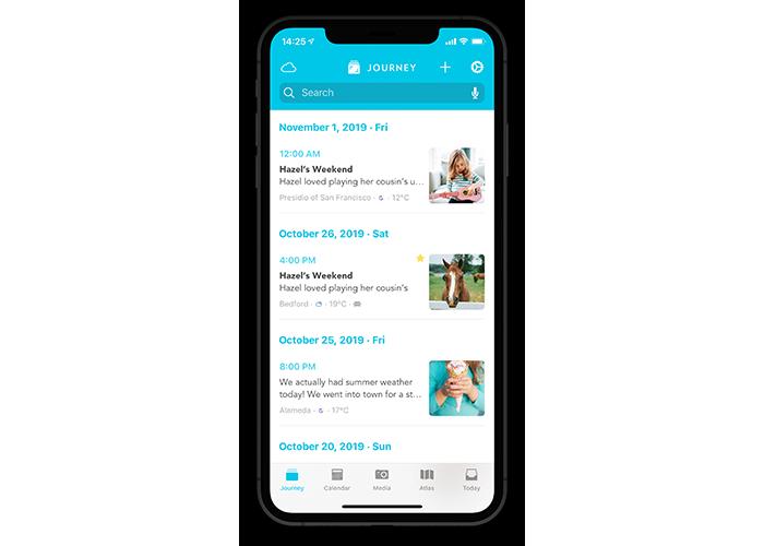 Journey iOS main interface