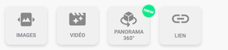Dans mon chapitre, dans la liste de mes cibles interactives, je sélectionne la cible Panorama 360°