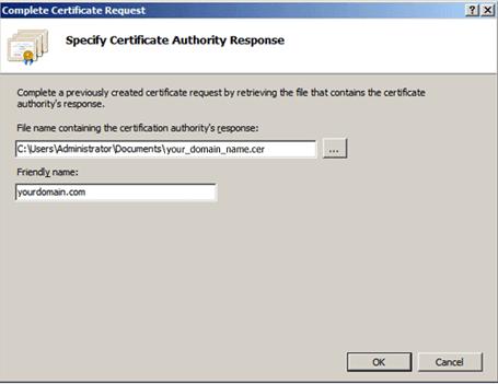Instalar un certificado SSL/TLS en Microsoft IIS 7
